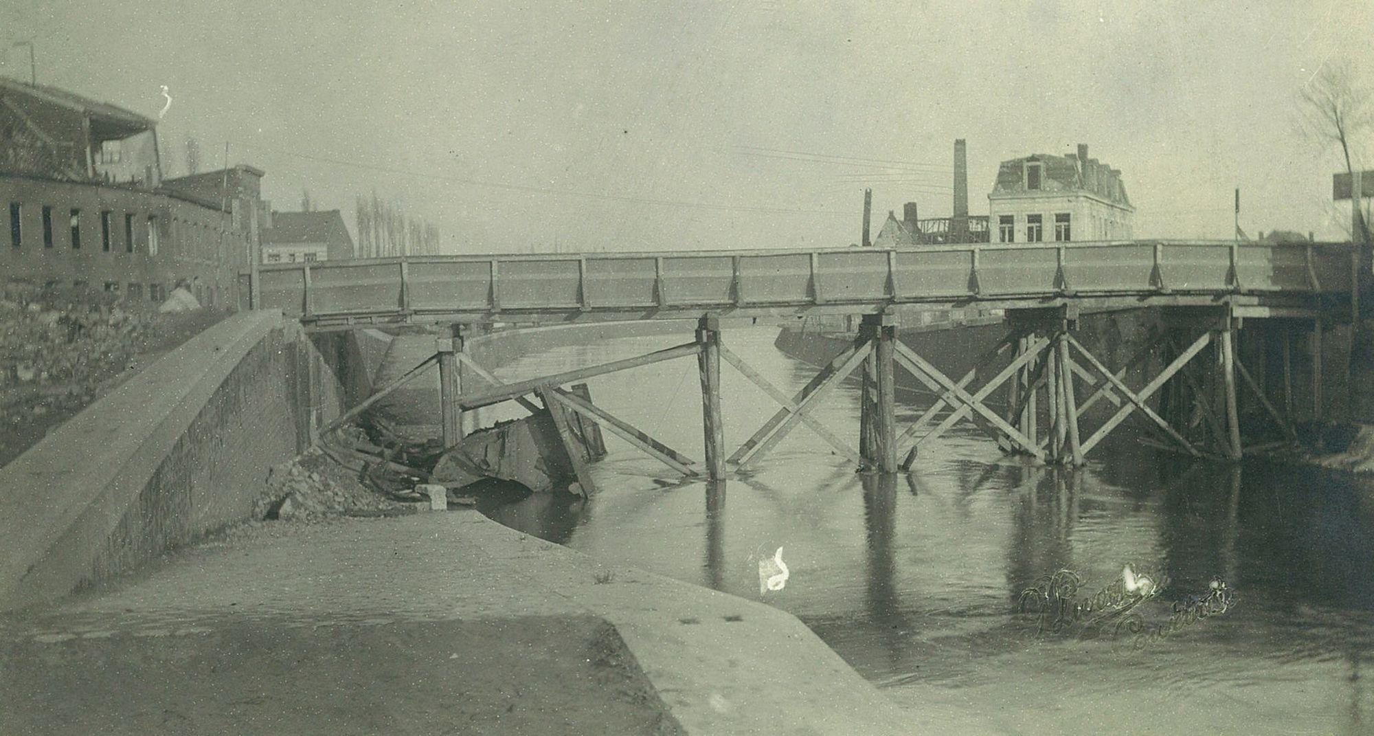 Voorlopige Budabrug na Wereldoorlog I