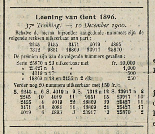 Leening van Gent 1896