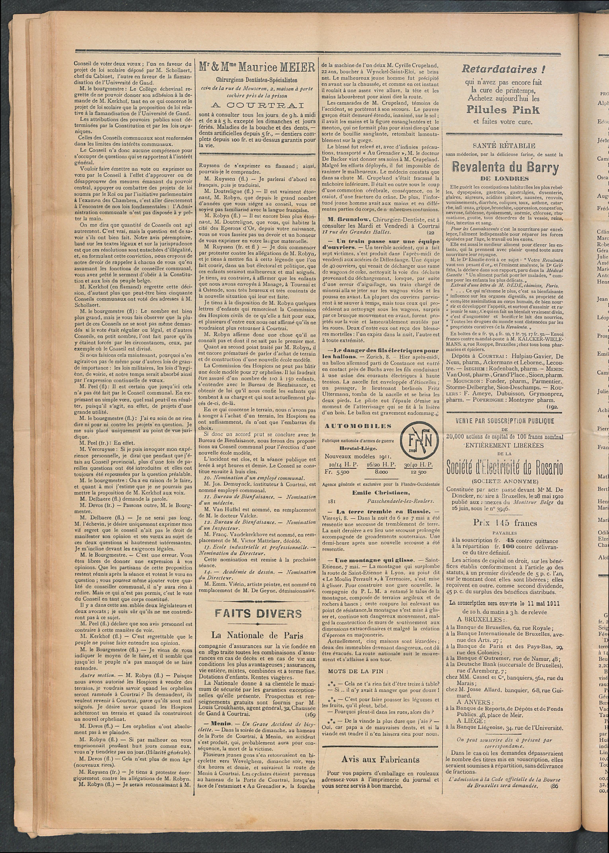 L'echo De Courtrai 1911-05-11 p2