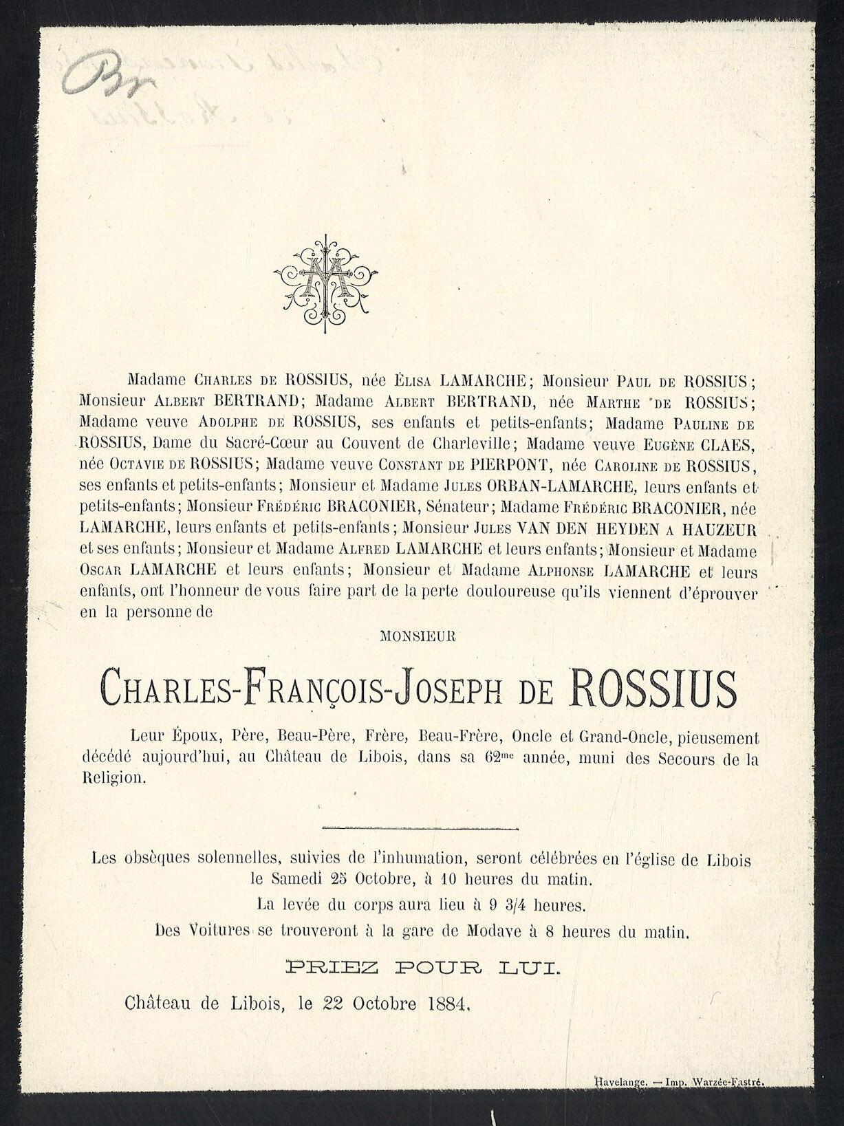 Charles-François-Joseph de Rossius