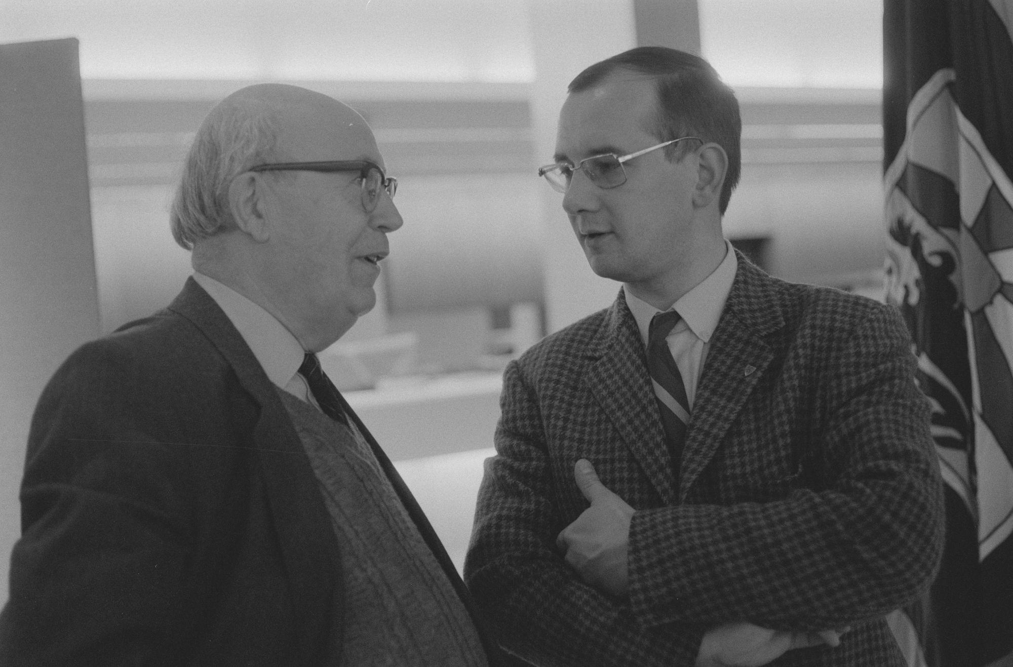 Luc Vercruysse en burgemeester De Jaegere