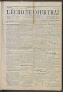 L'echo De Courtrai 1914-05-10 p1