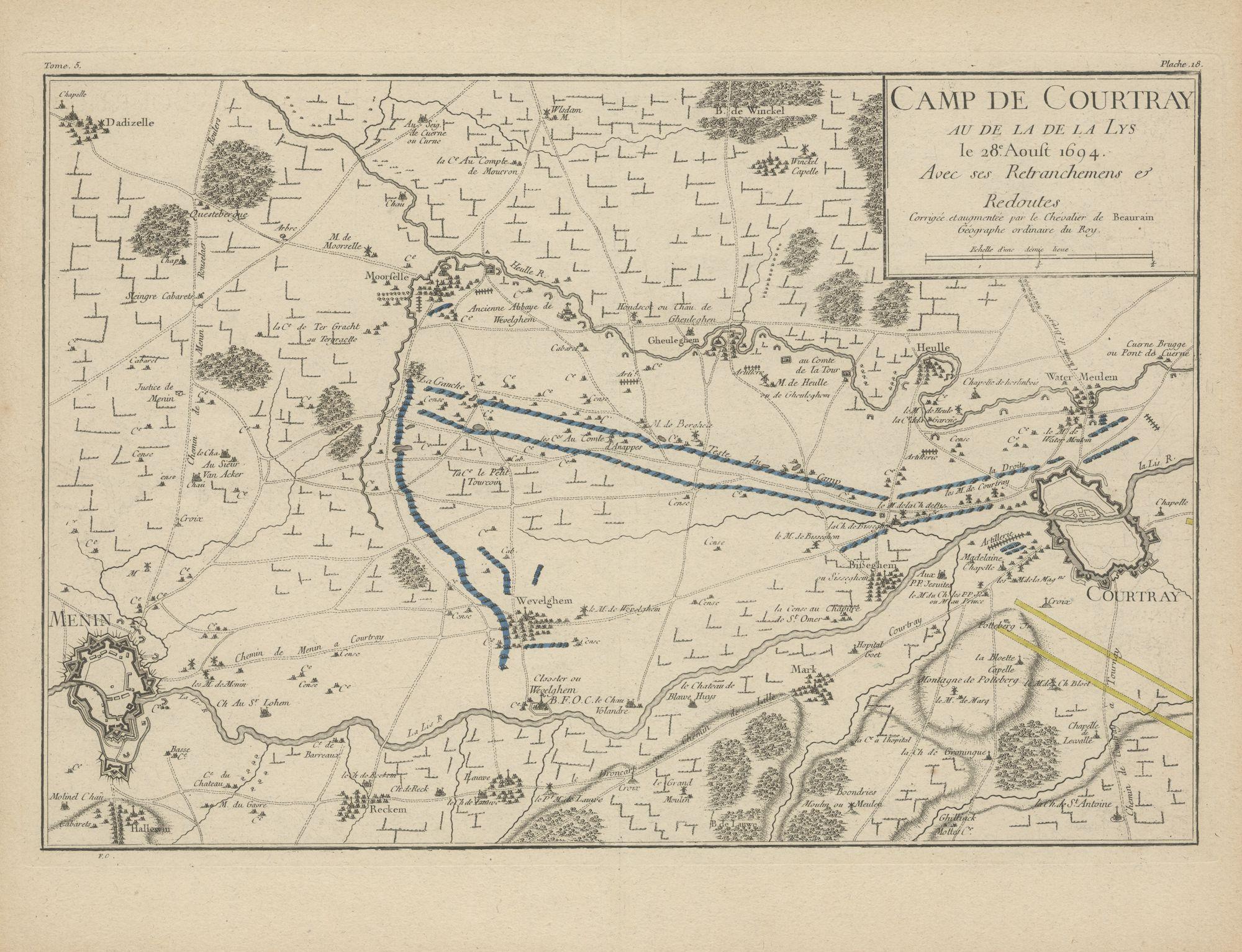 Westflandrica - Het beleg van Kortrijk op 28 augustus 1694