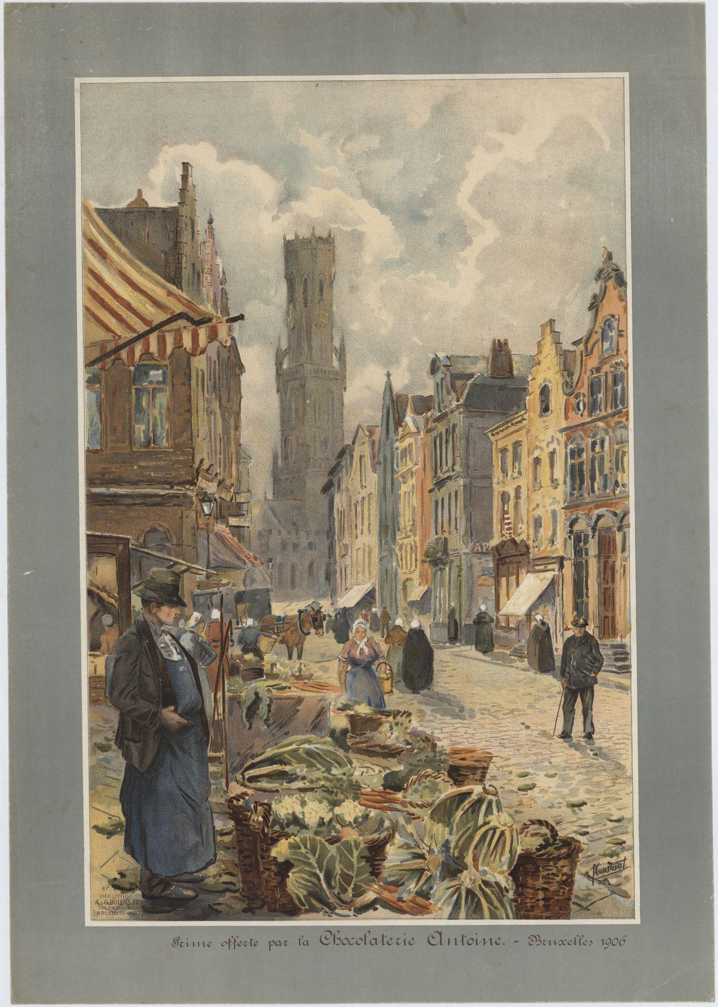 Westflandrica - Brugge, straat met huizen