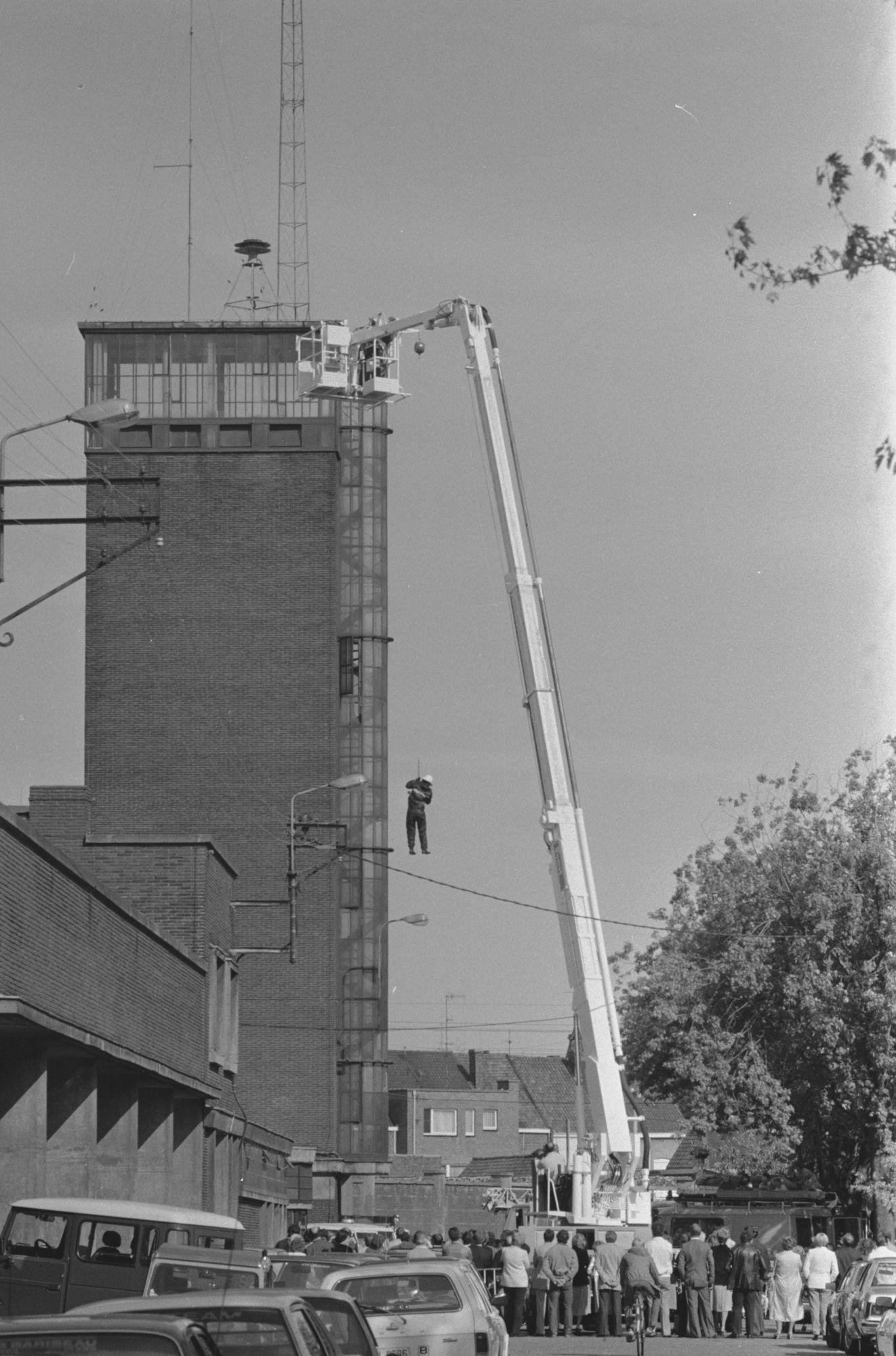 Demonstratie aan de brandweerkazerne