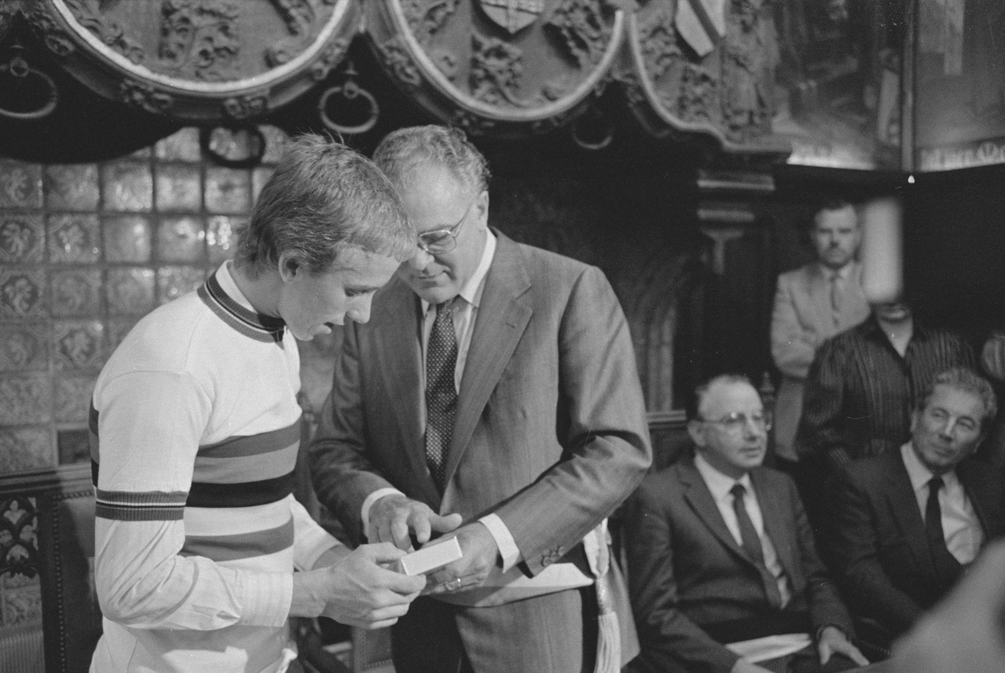 Ontvangste van Greg LeMond op het stadhuis