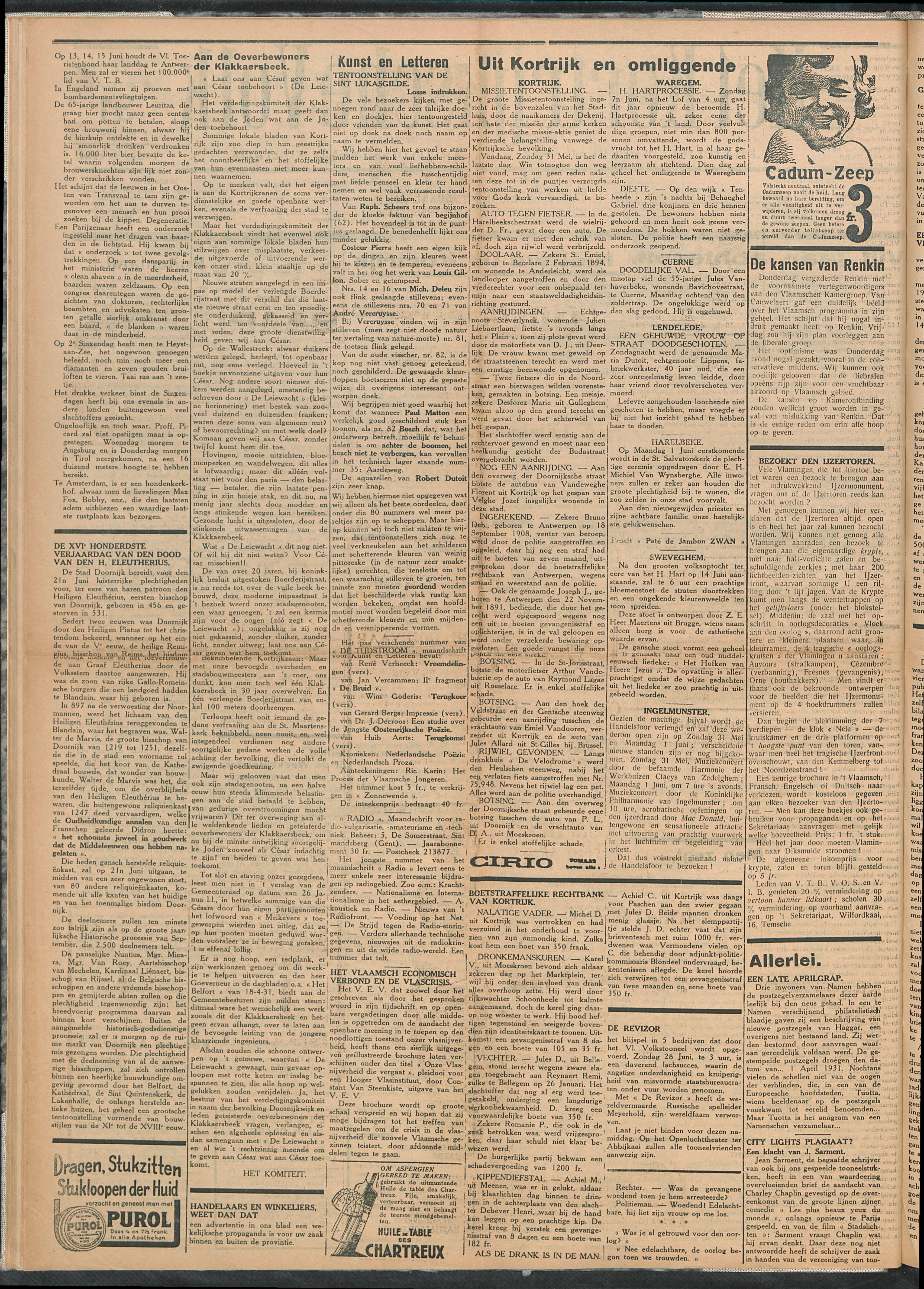 Het Kortrijksche Volk 1931-05-31 p2