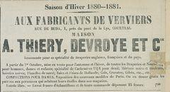 MAISON A. THIERY-DEVROYE ET CIE