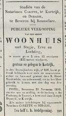 PUBLIEKE VERKOOPING-WOONHUIS