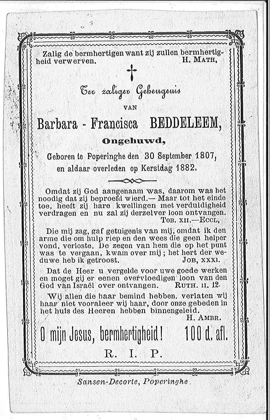 Barbara-Francisca Beddeleem