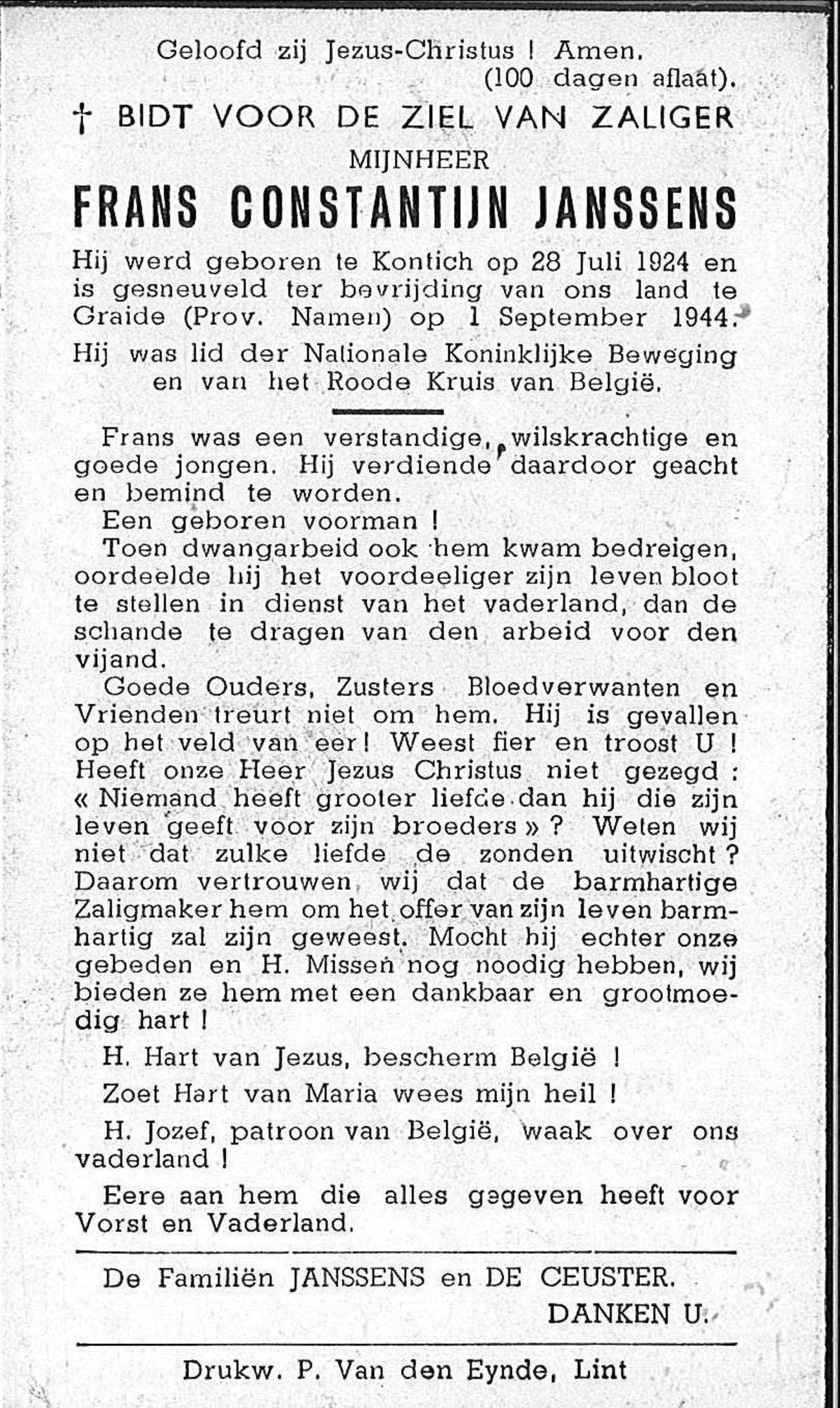 Frans Constantijn Janssens