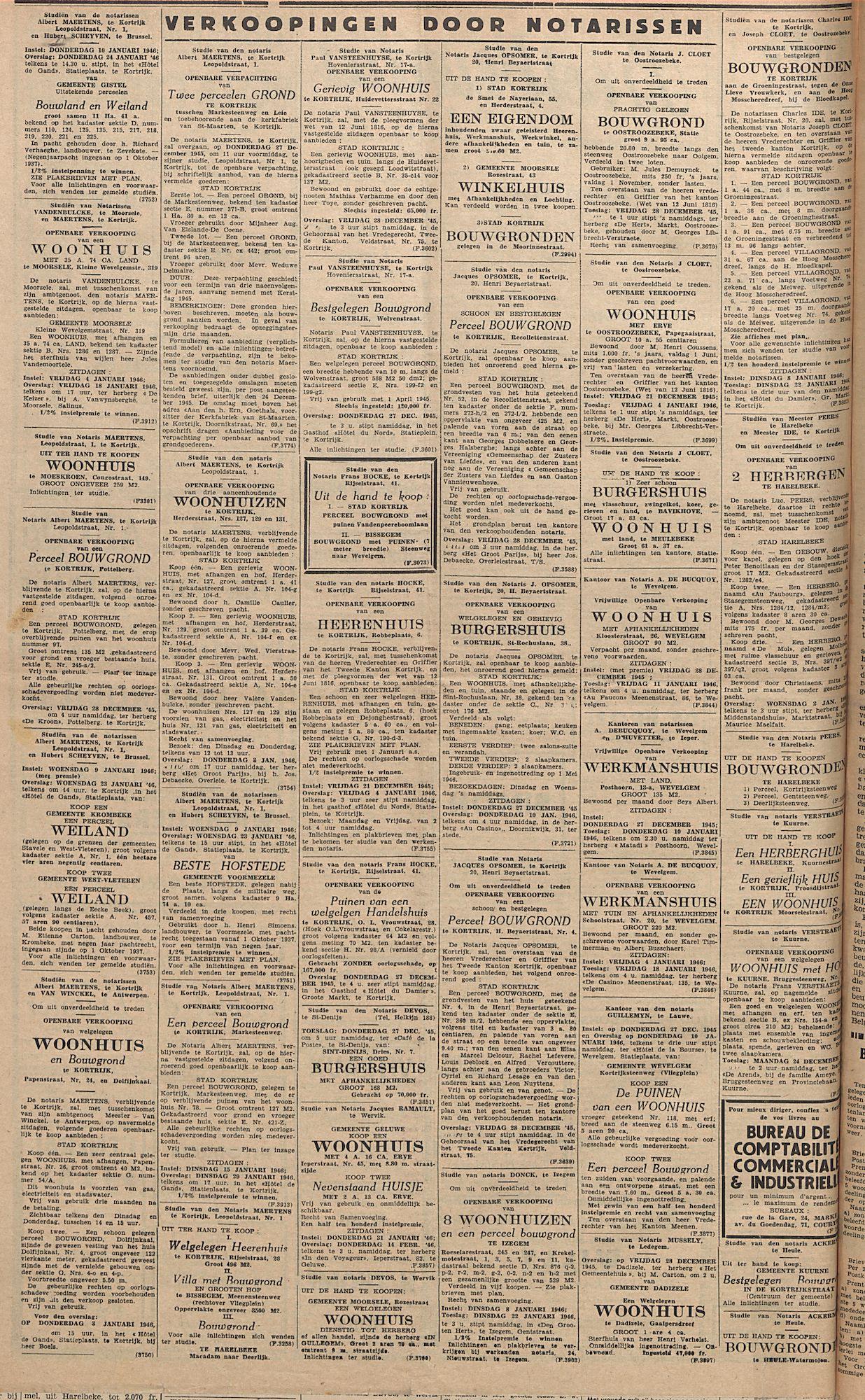 Kortrijksch Handelsblad 28 december 1945 Nr102 p4