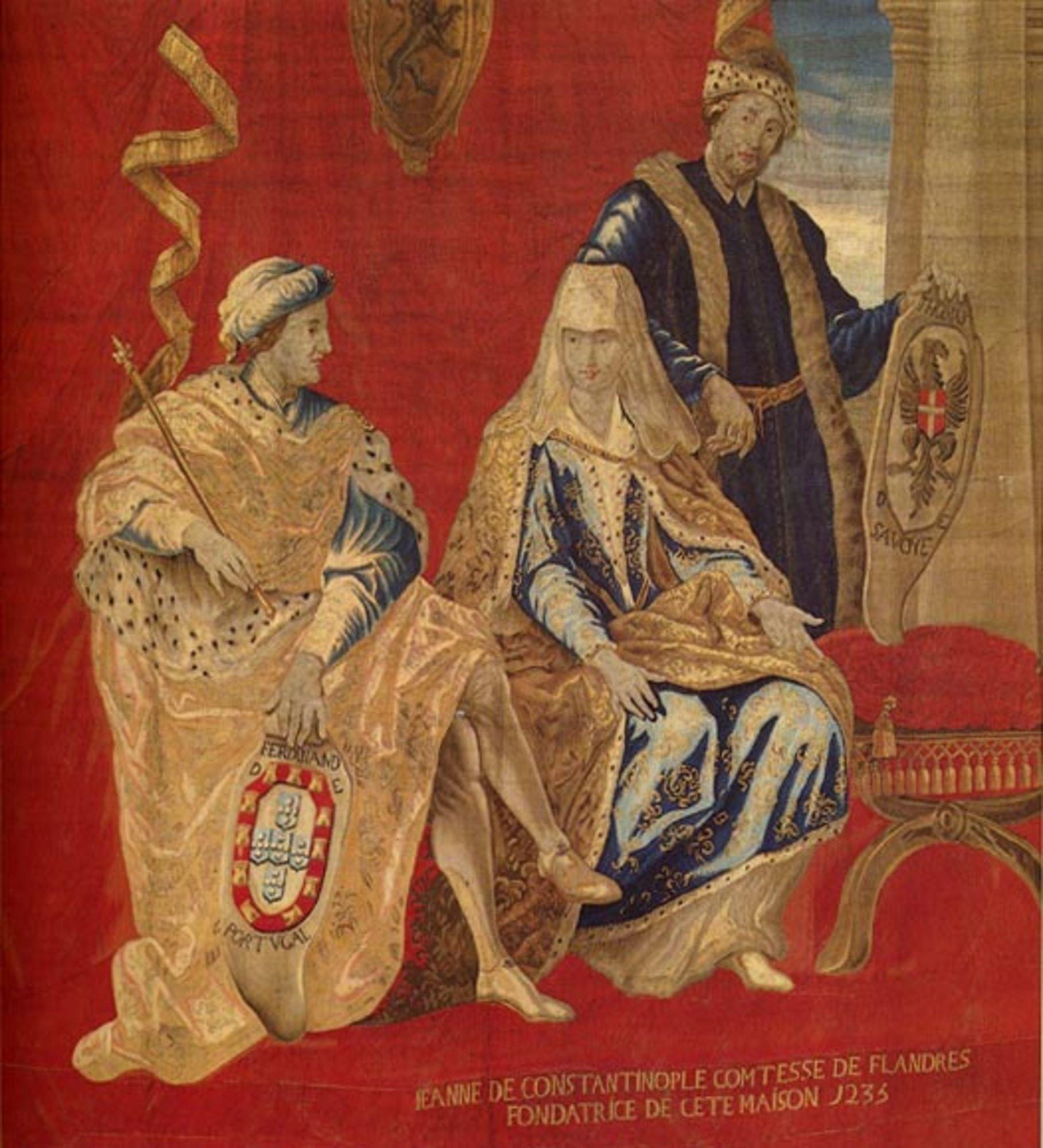 Johanna van Constantinopel met echtgenoten