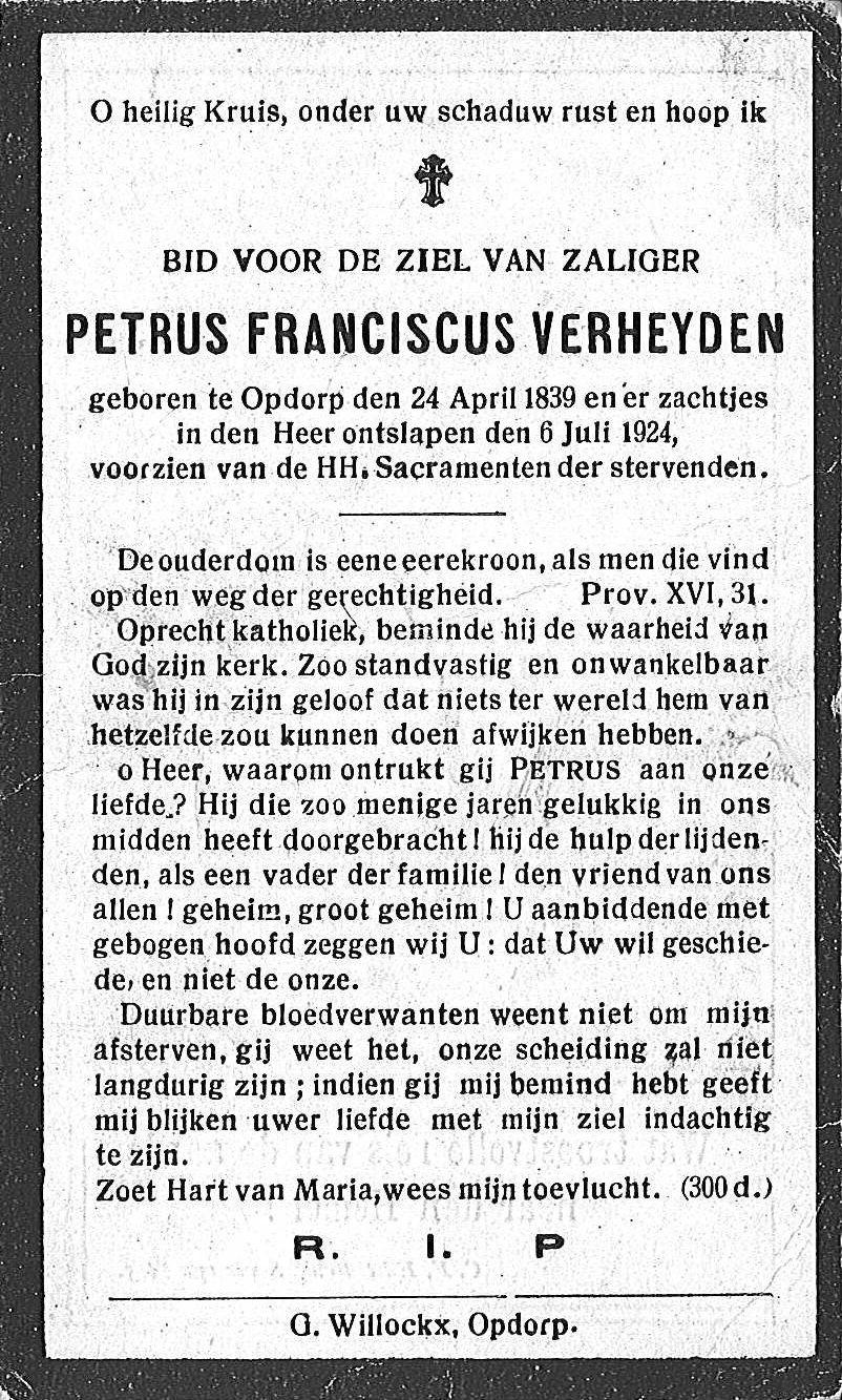 Petrus Franciscus Verheyden