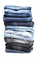 Stapel jeansbroeken