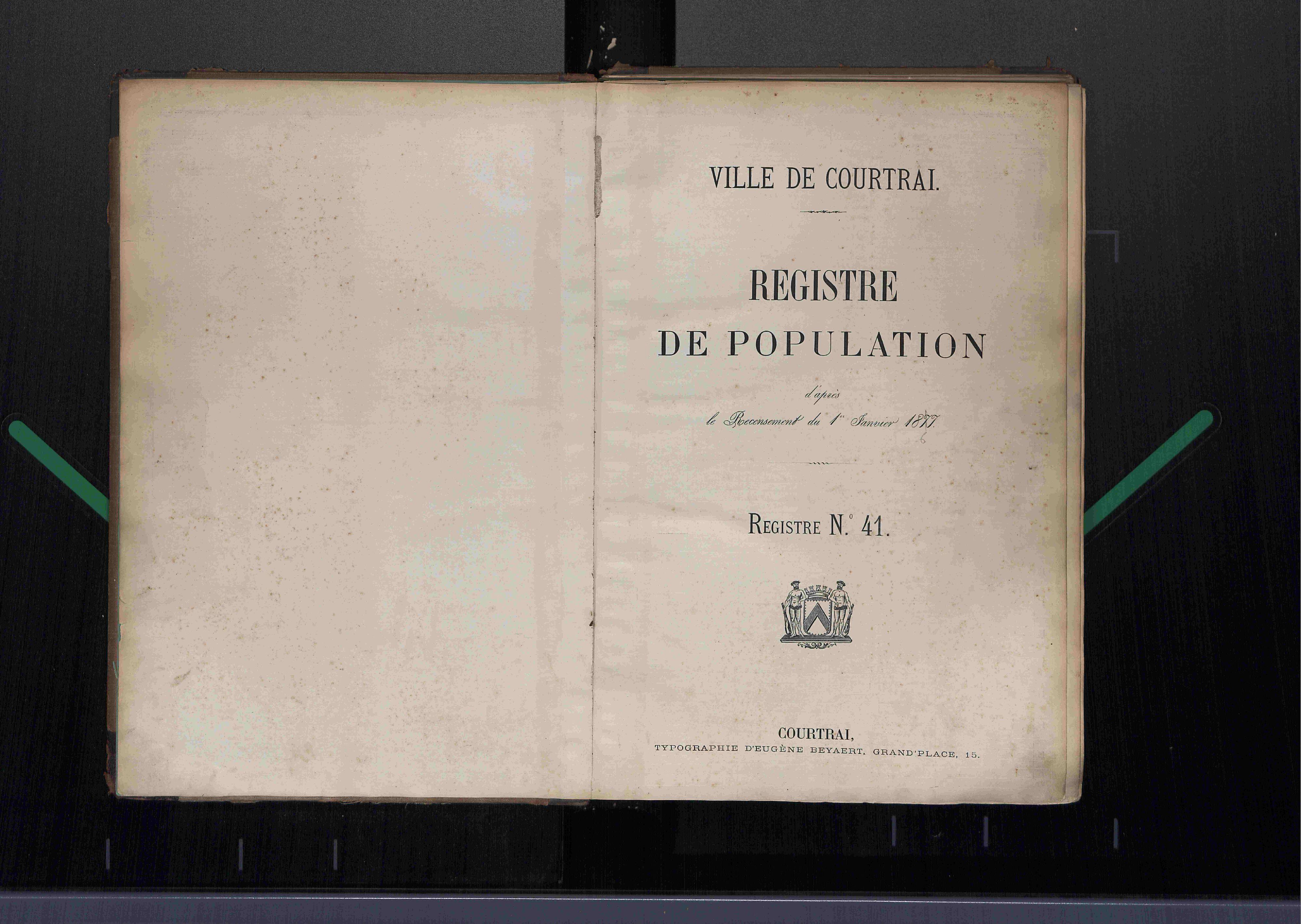 Bevolkingsregister Kortrijk 1866 boek 41