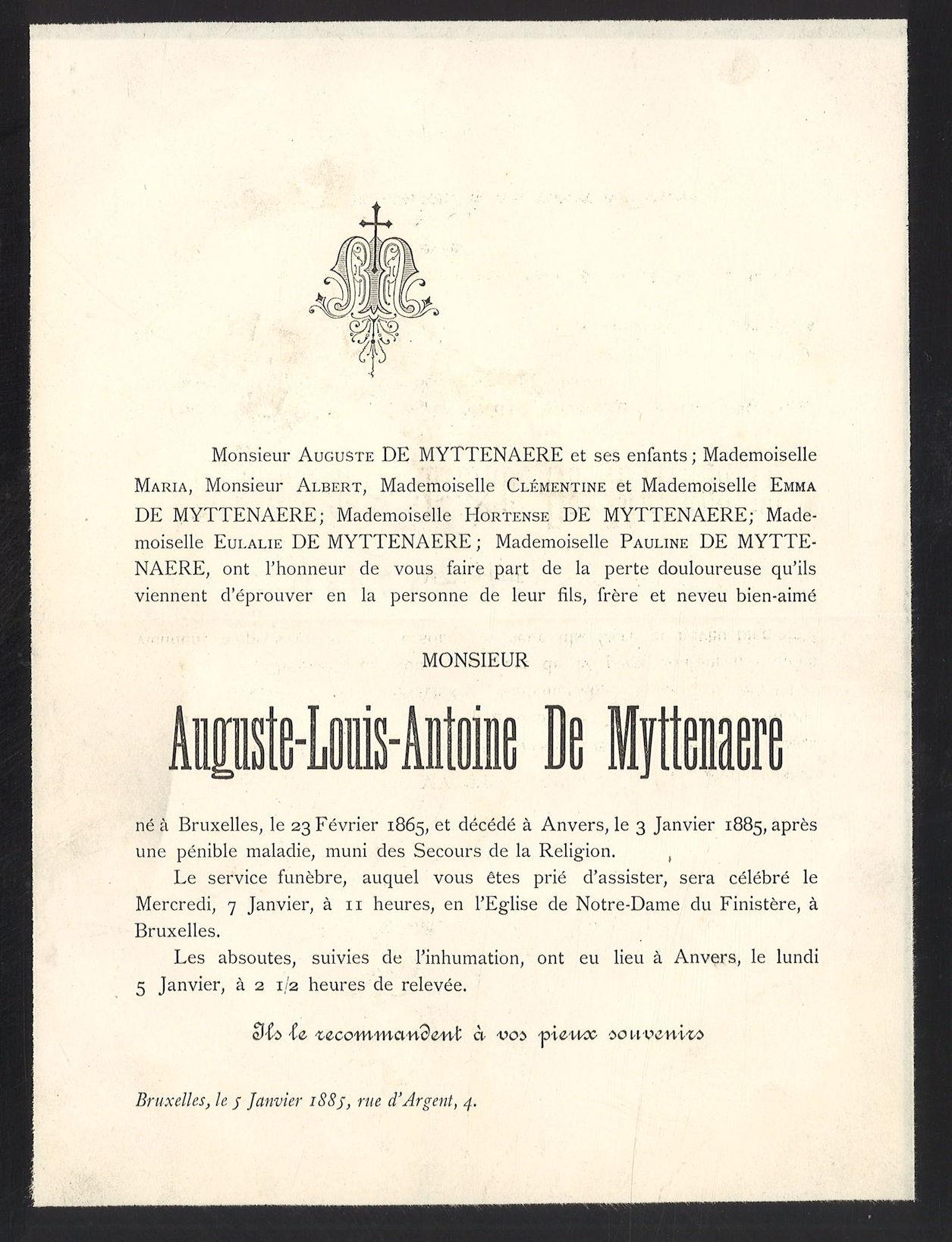 Auguste-Louis-Antoine De Myttenaere