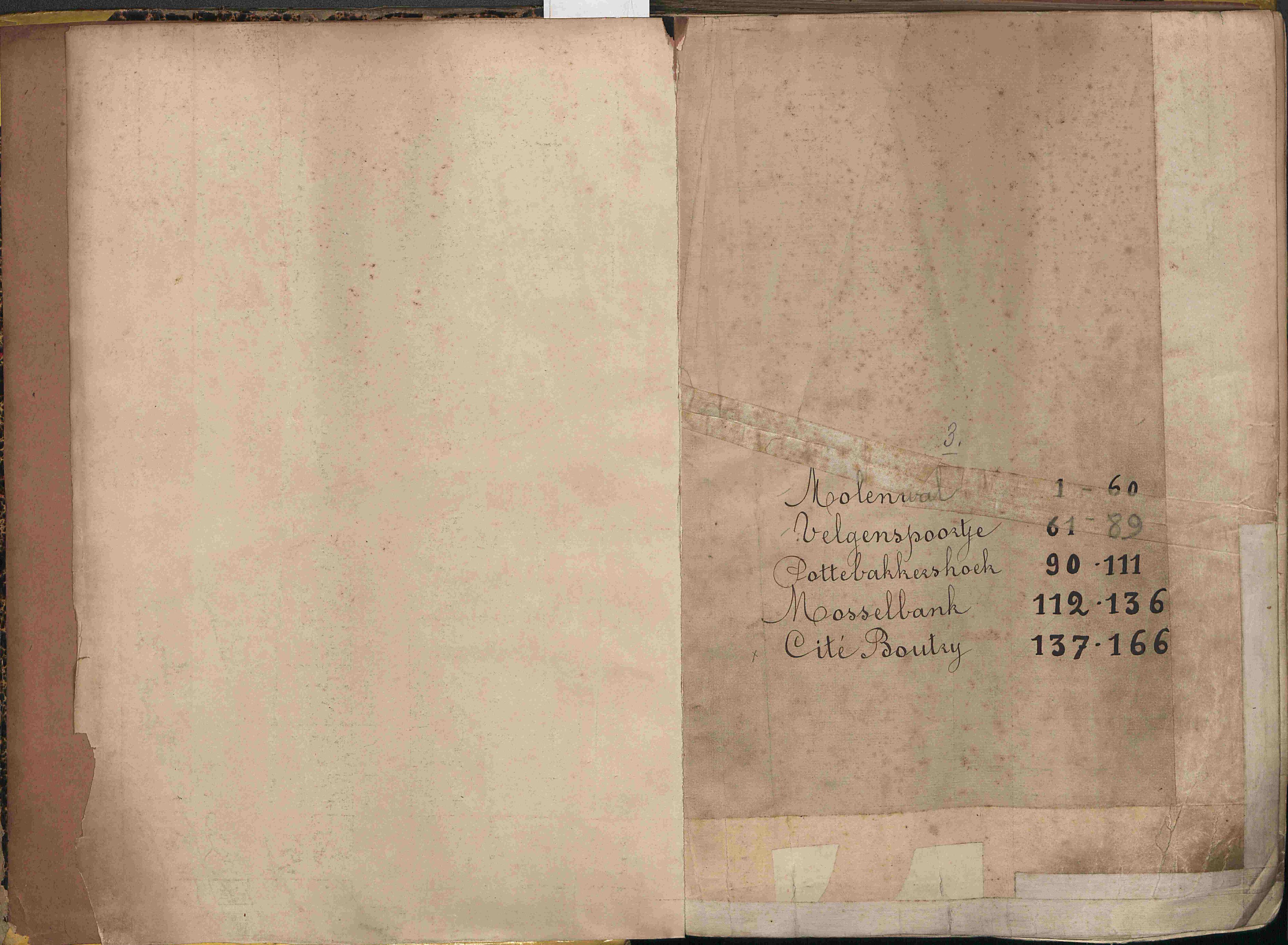 Bevolkingsregister Kortrijk 1890 boek 3