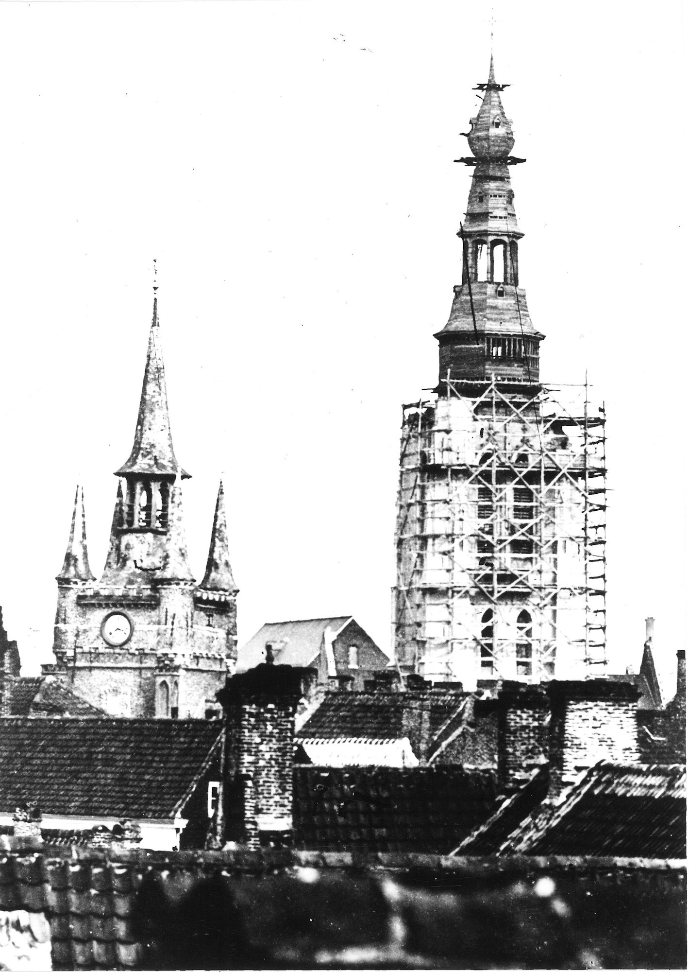 Herstelling Sint-Maartenskerk 1876