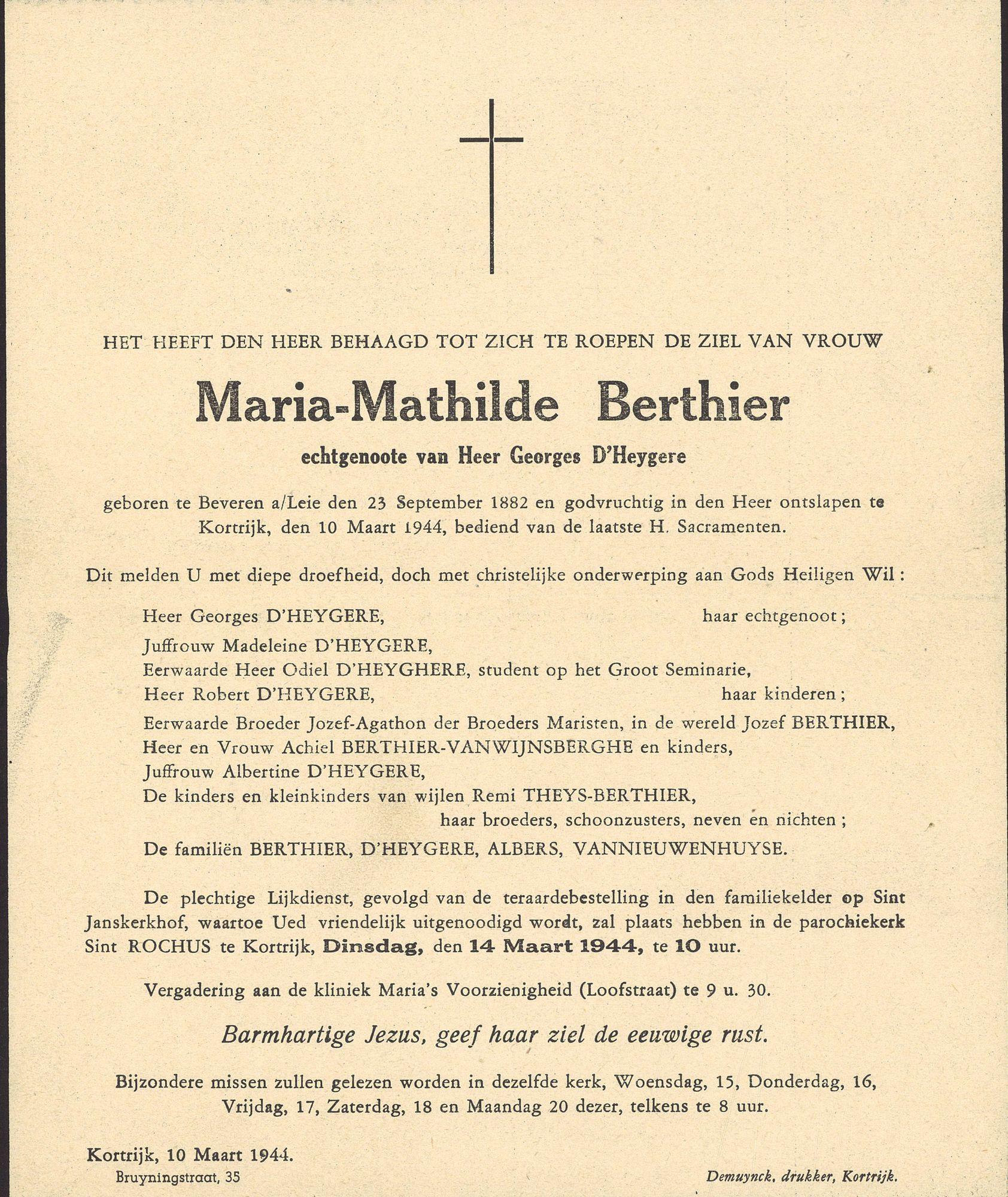 Maria-Mathilde Berthier