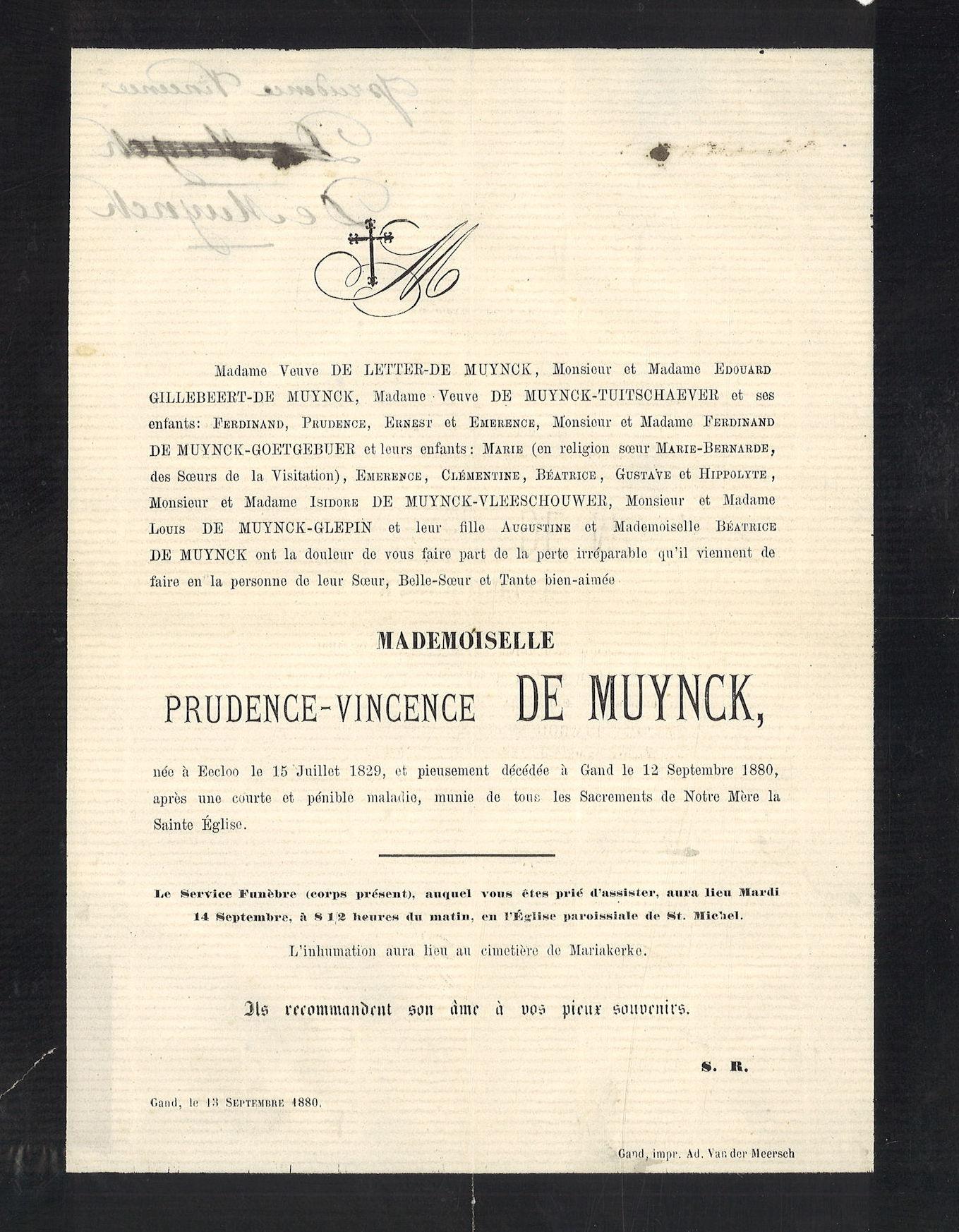 Prudence-Vincence De Muynck