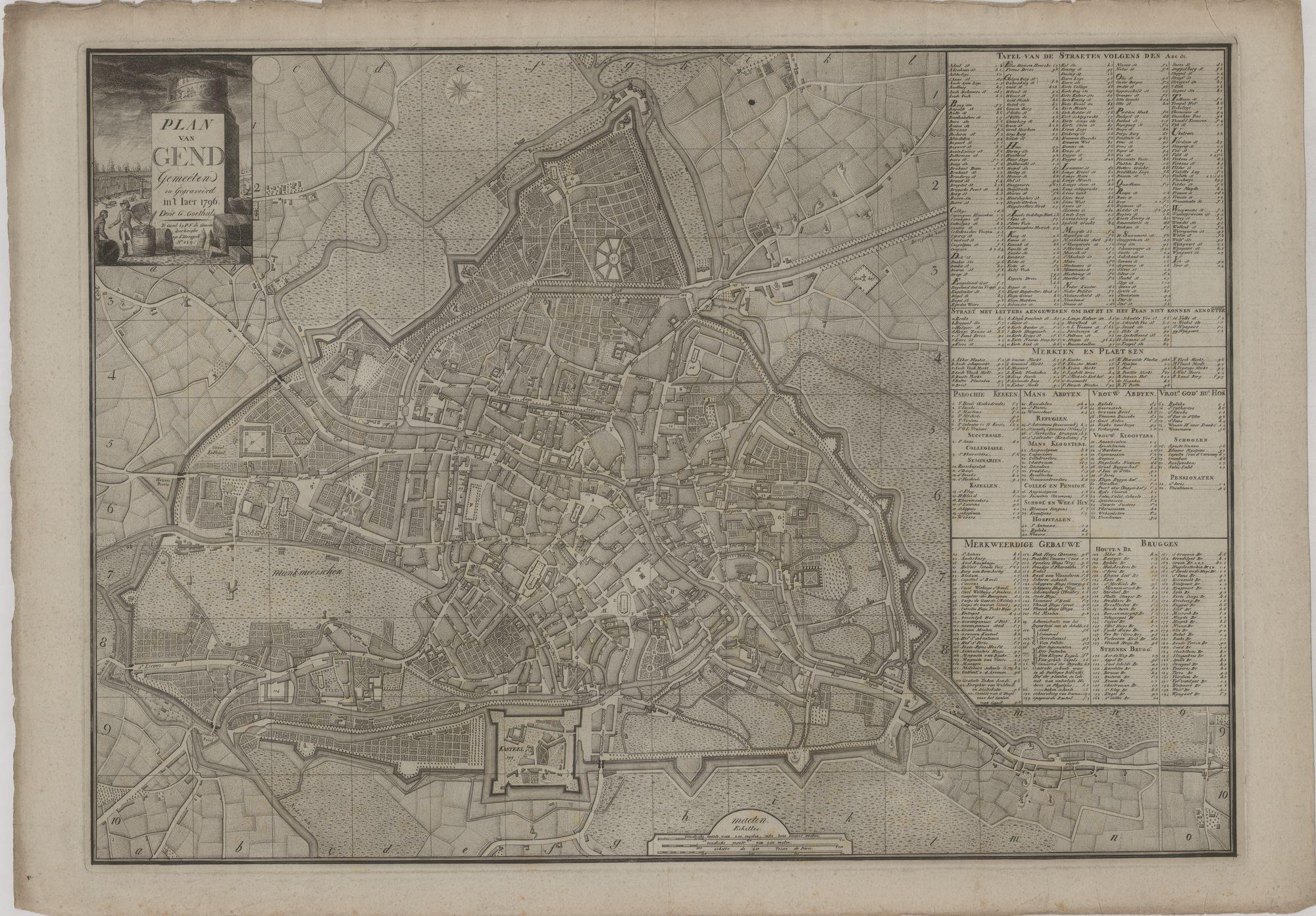 Westflandrica - Stadsplan, Gent