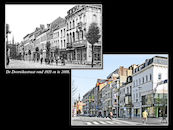 Doorniksestraat ca1920 en 2008