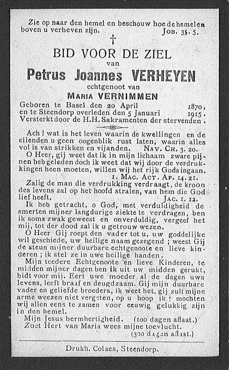 Petrus Joannes Verheyen