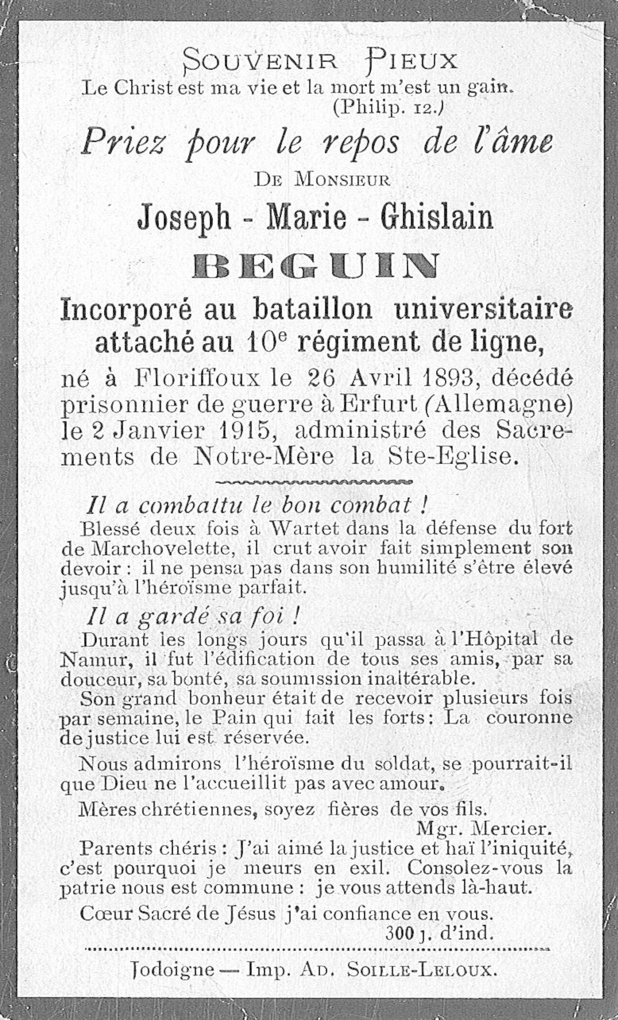 Beguin Joseph-Marie-Ghislain