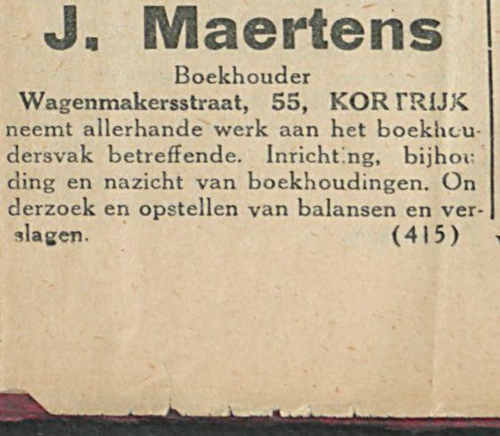J Maertens