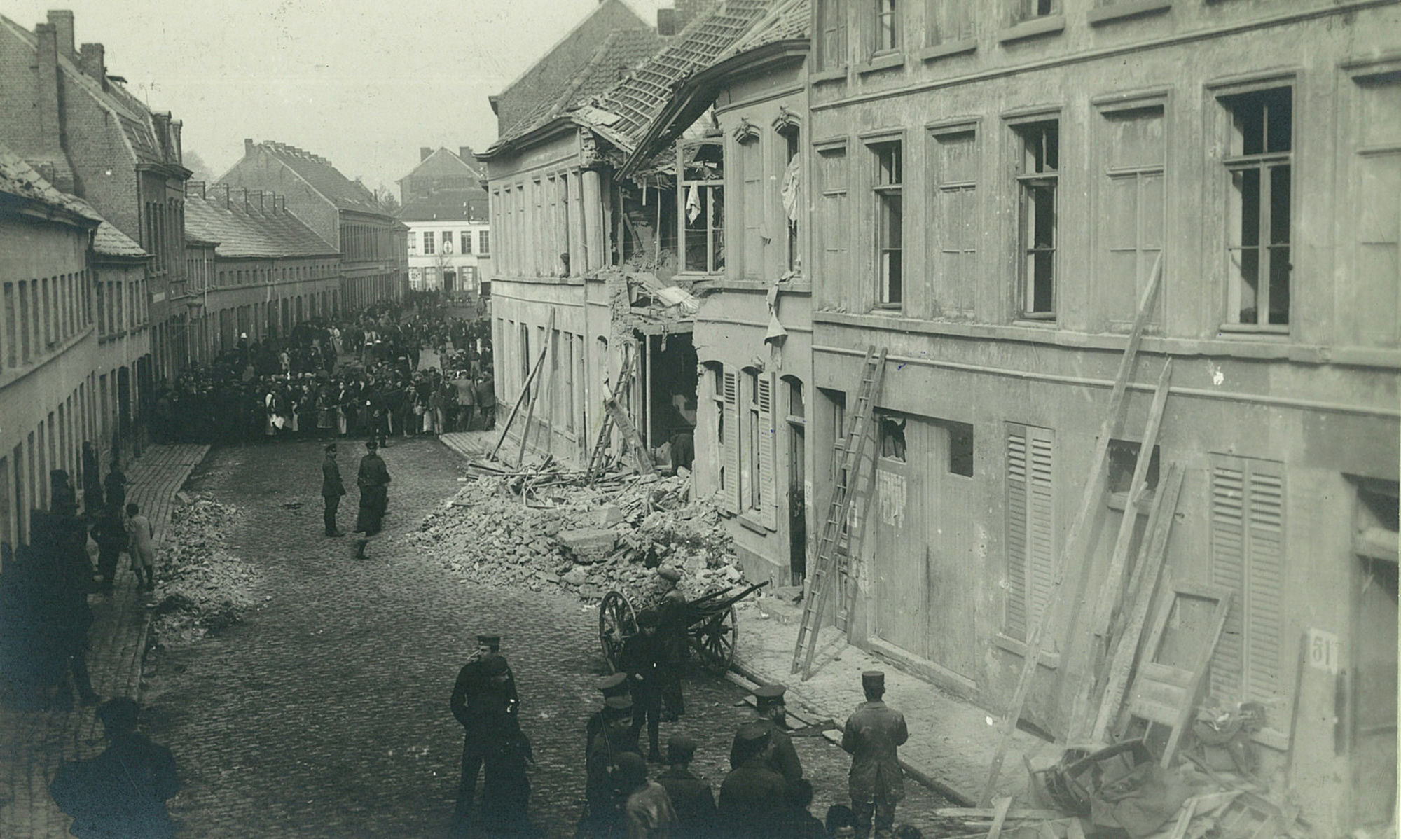 Pluimstraat in 1918