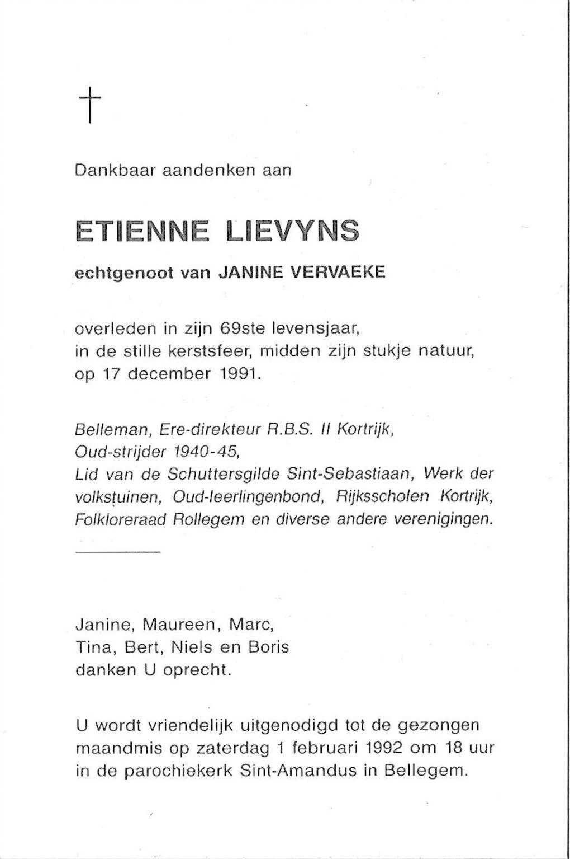 Etienne Lievyns