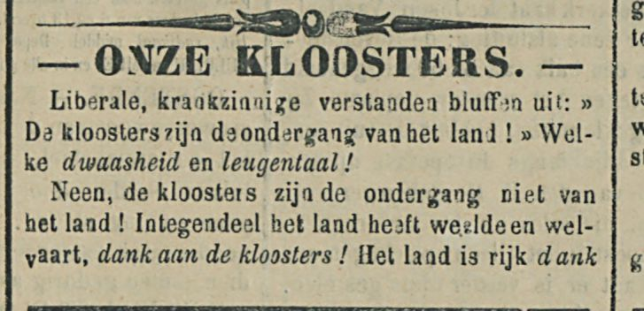 ONZE KLOOSTERS