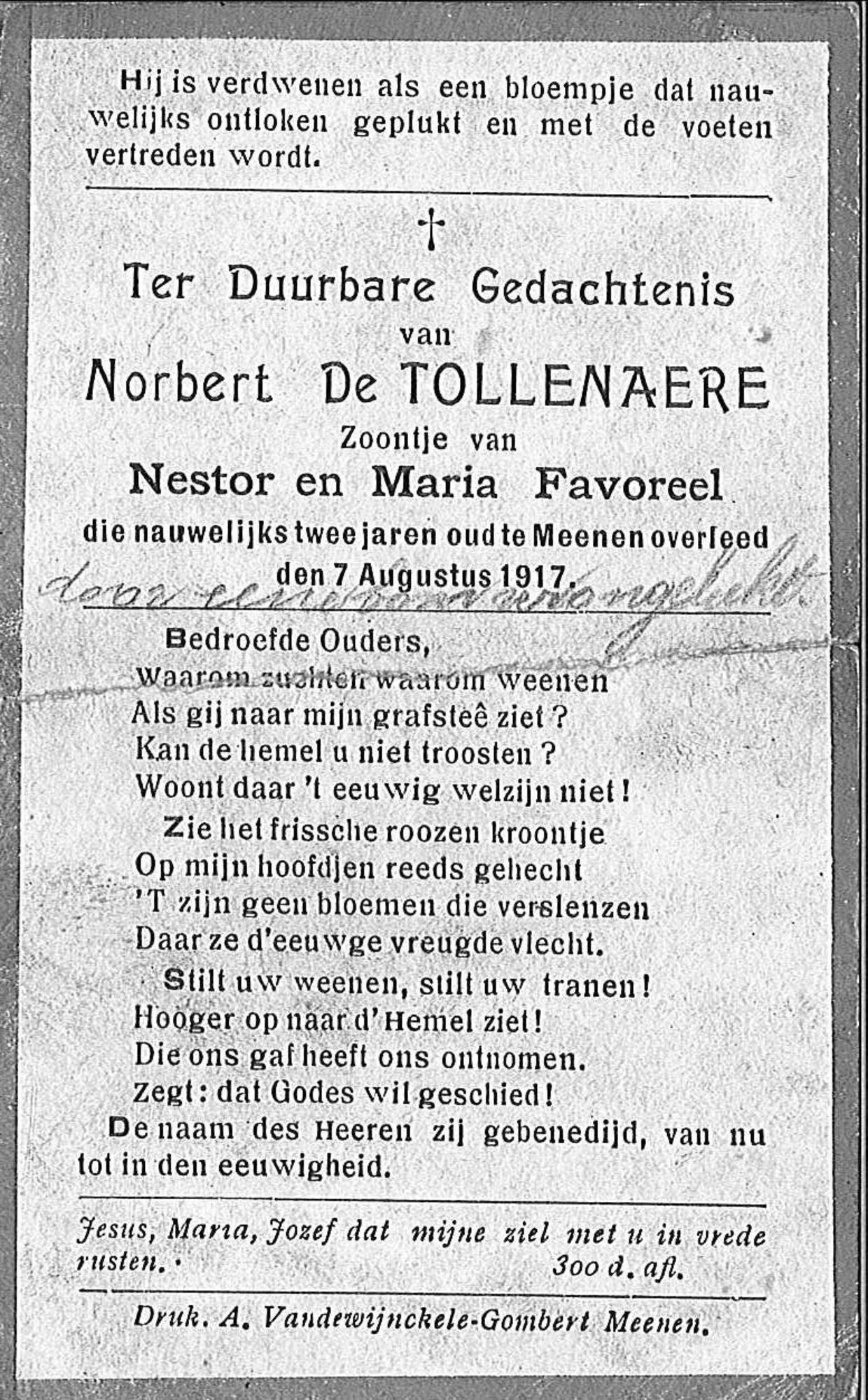 De Tollenaere Norbert