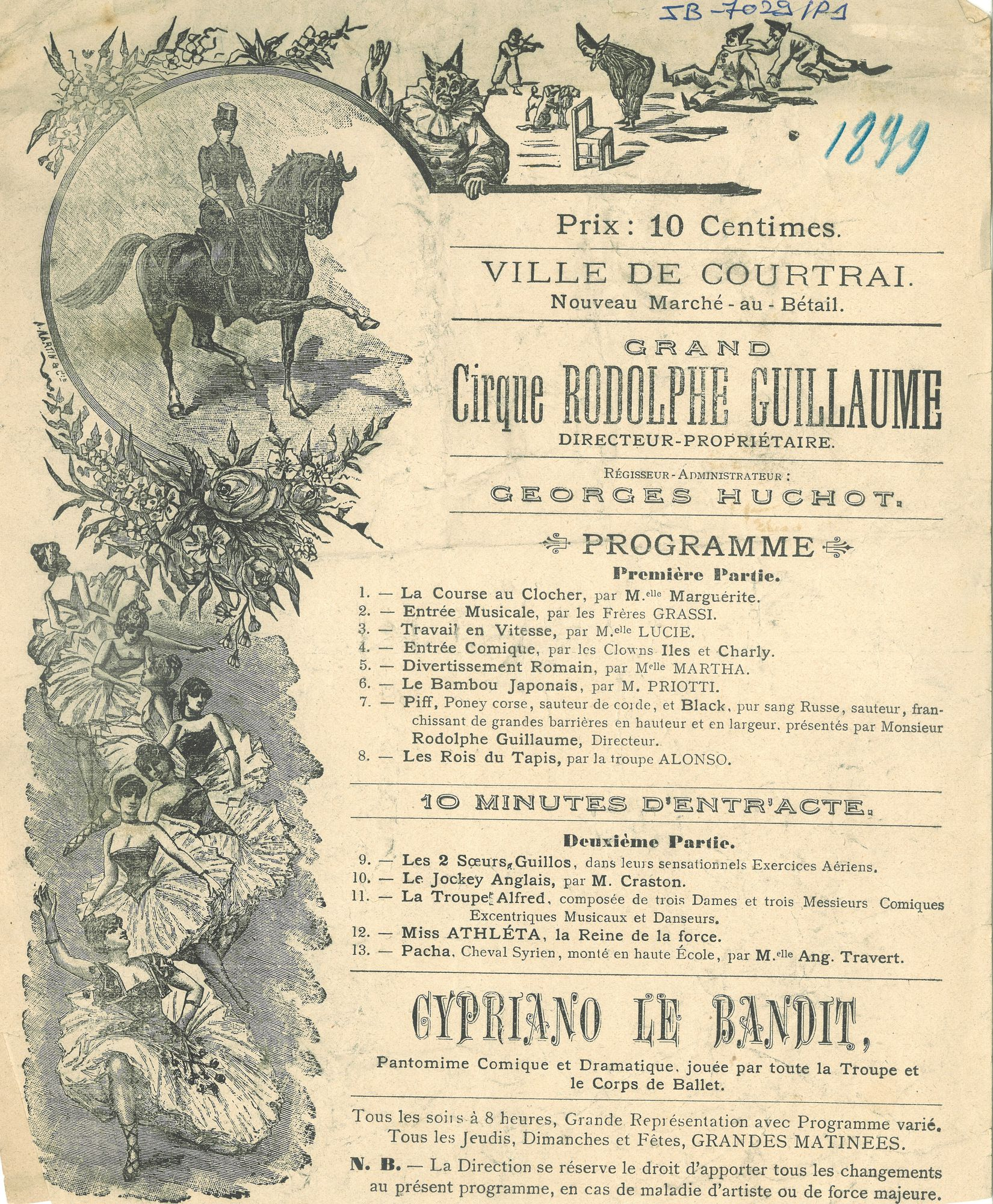 Paasfoor 1899: grand Cirque Rodolphe Guillaume