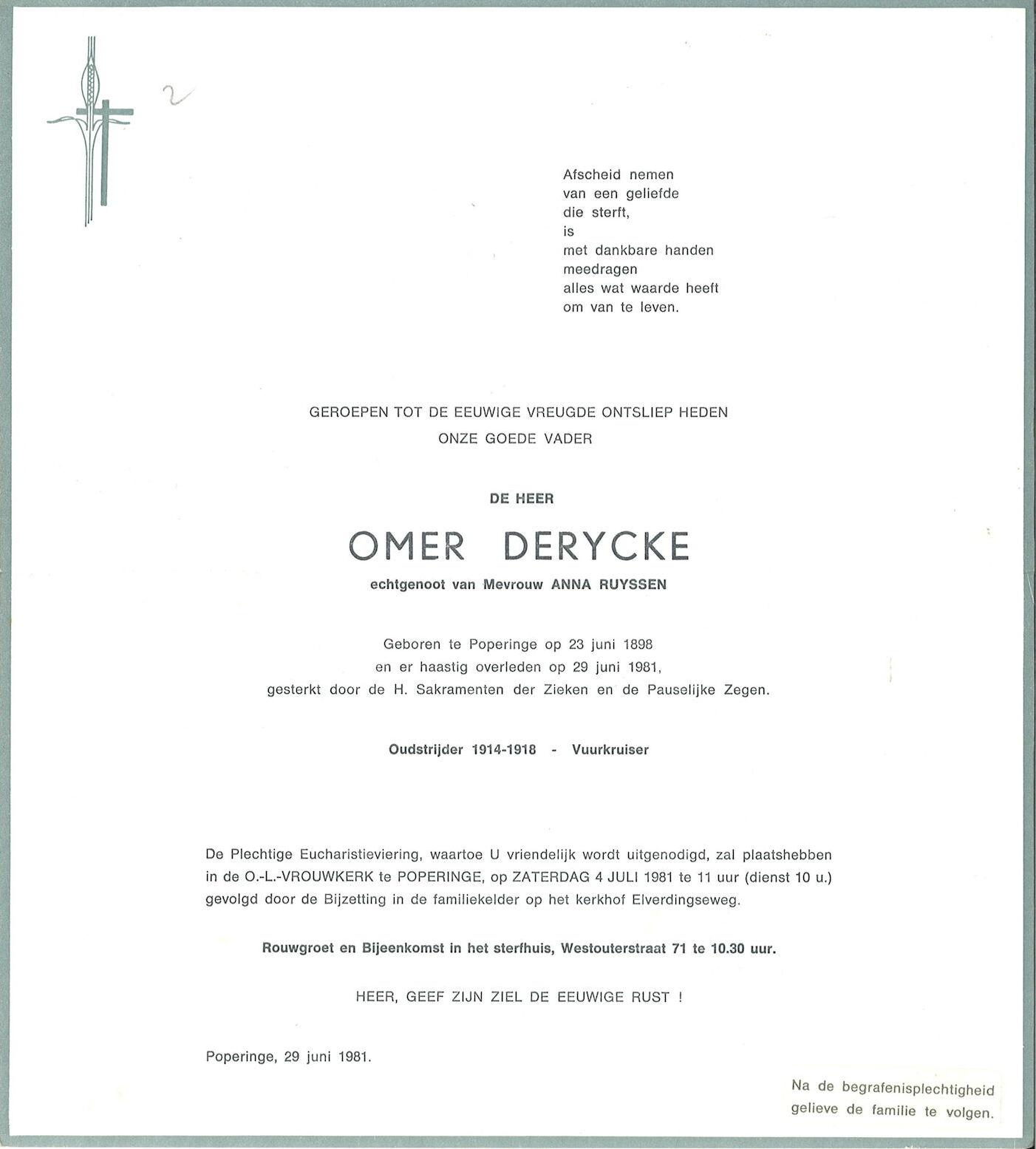Omer Derycke