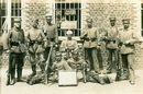 Duitse soldaten tijdens Wereldoorlog I te Marke