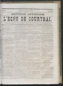 L'echo De Courtrai 1871-10-25