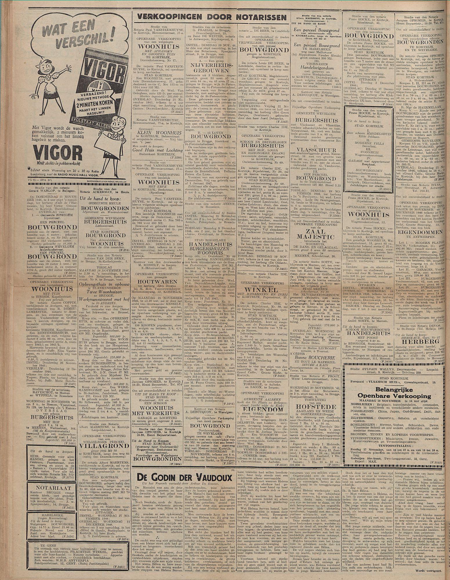 Kortrijksch Handelsblad 15 november 1946 N92 p4