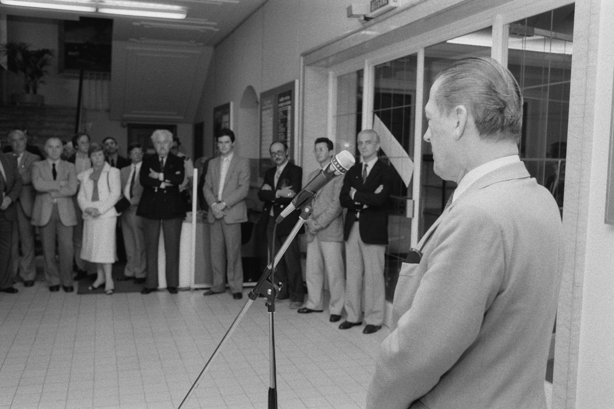 Toespraak bij de braderie centrum 1982