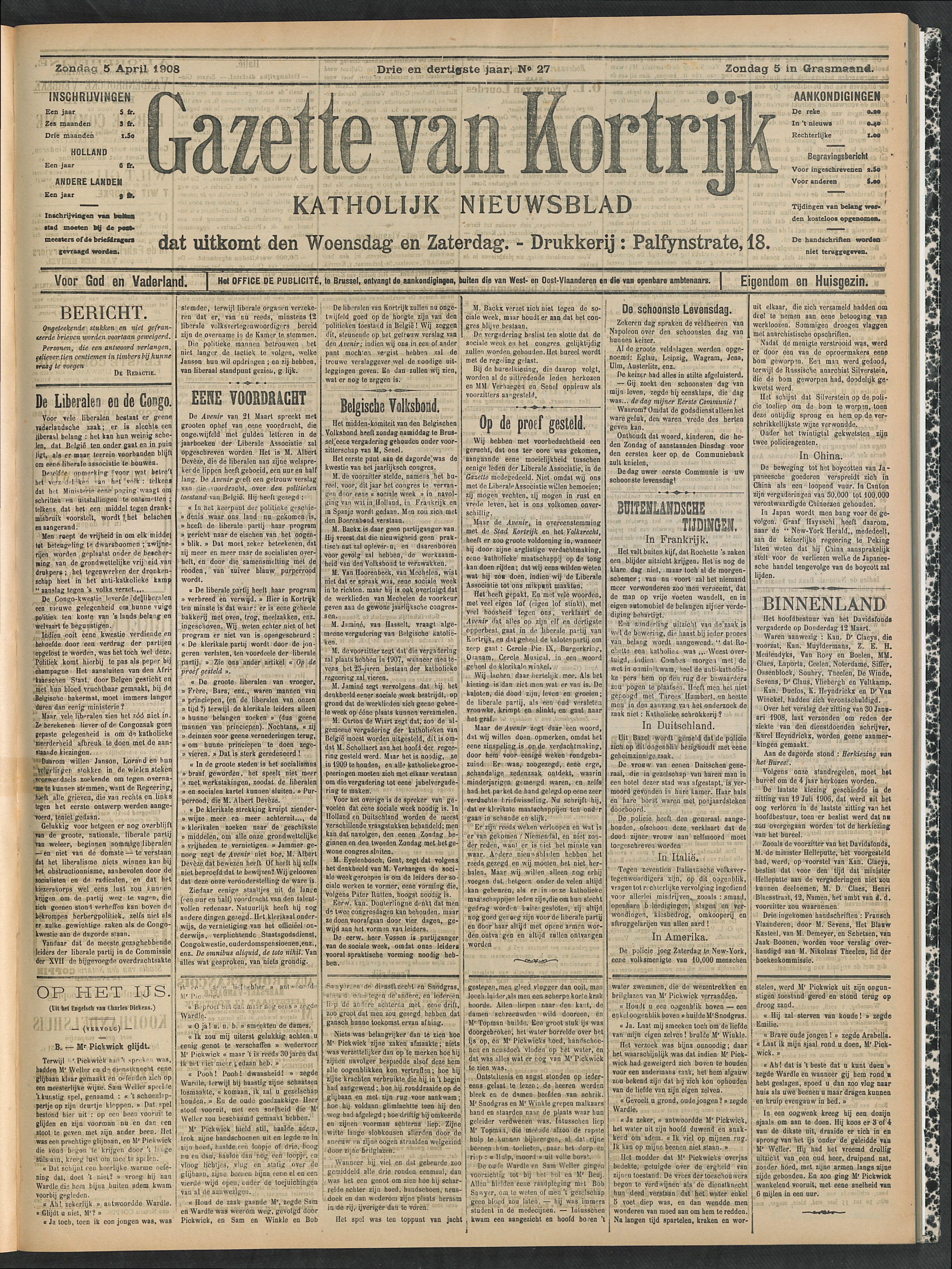 Gazette Van Kortrijk 1908-04-05 p1
