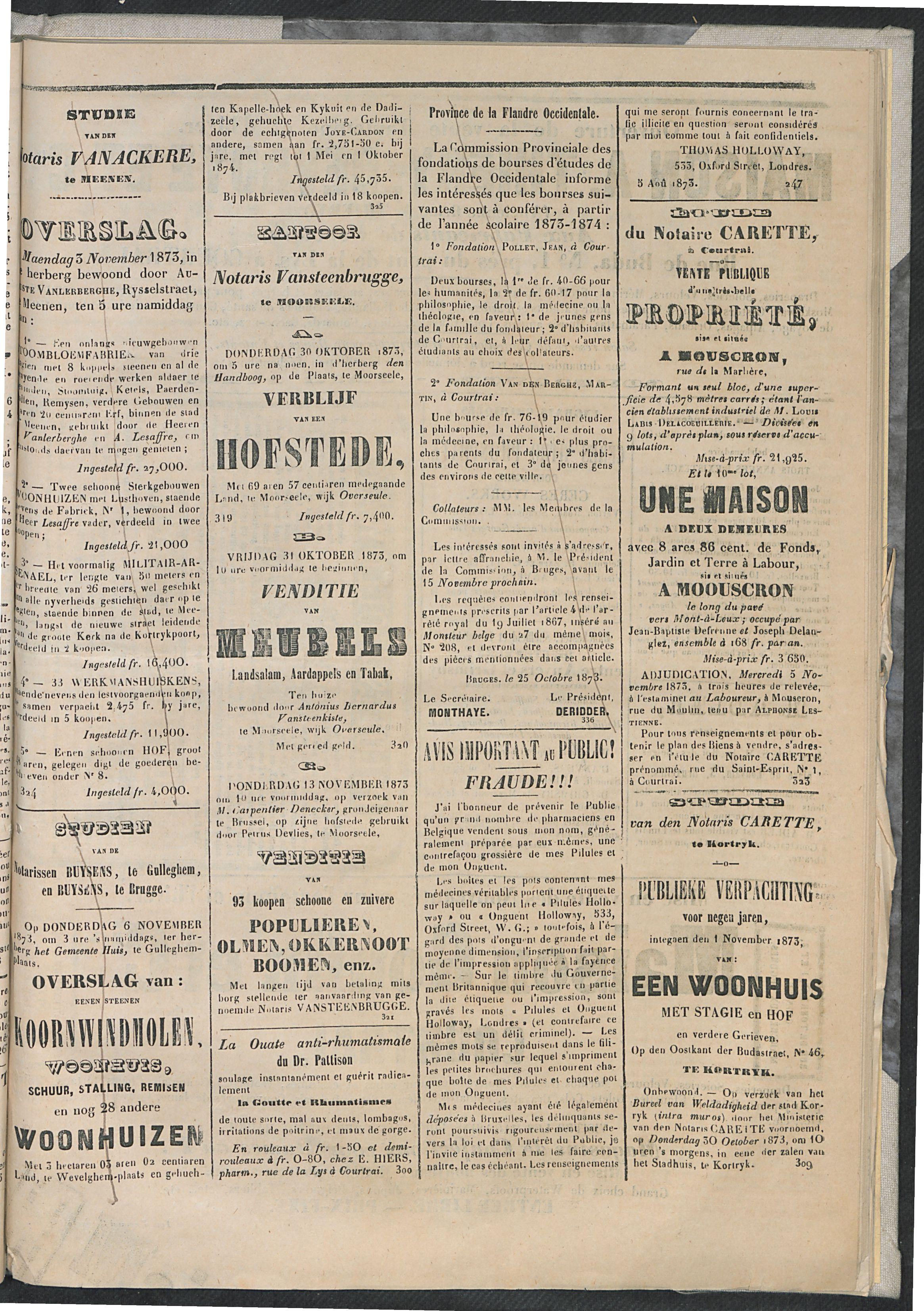 L'echo De Courtrai 1873-10-30 p3
