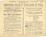 Paasfoor 1901: Carrousel-Salon Wdwe Xhaflaire & Fils