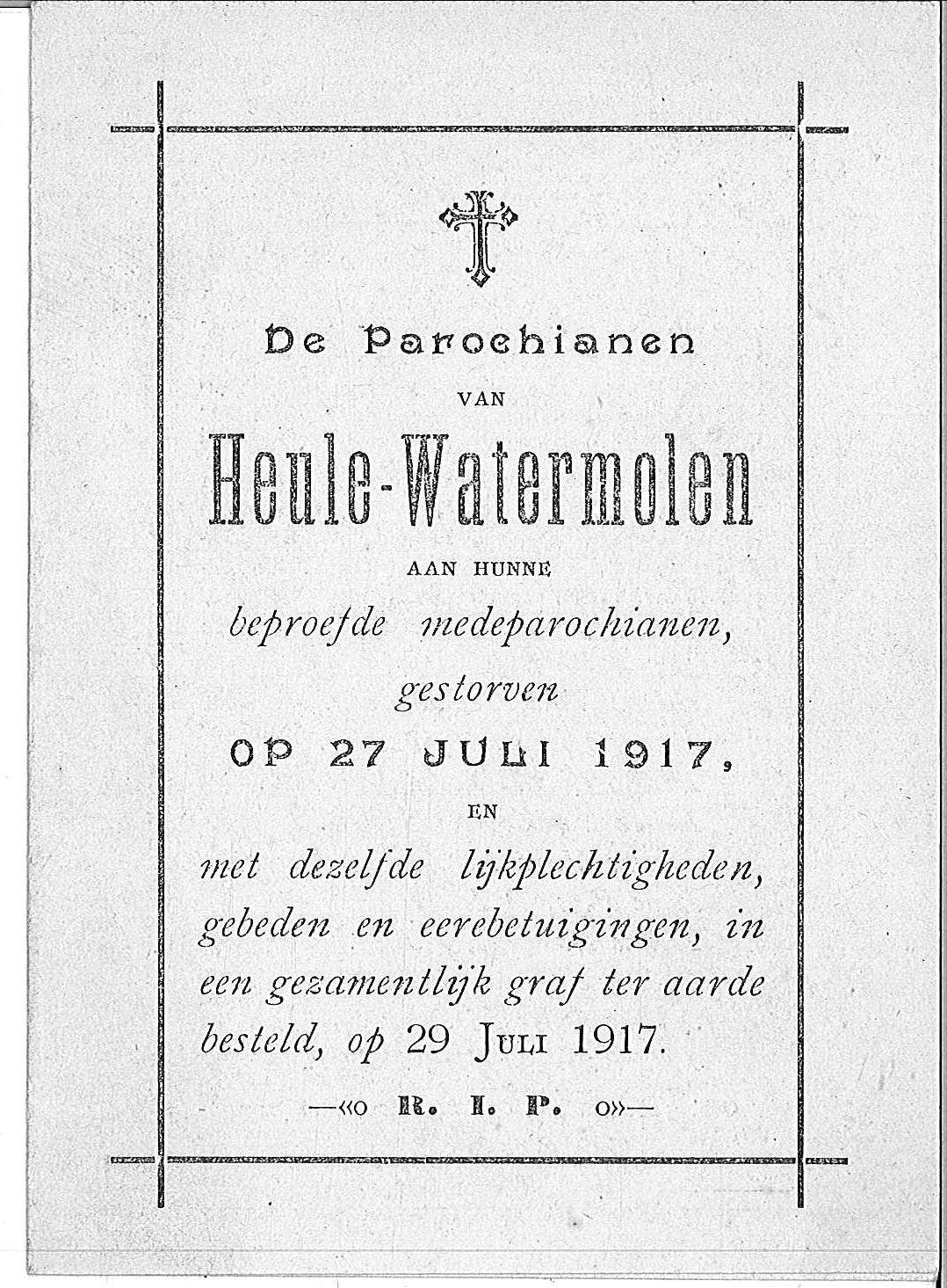 Parochiane van Heule-Watermolen.