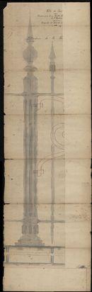 Plattegronden m.b.t. de bouw van een afsluiting of omheining rond het Plein te Kortrijk, 1878