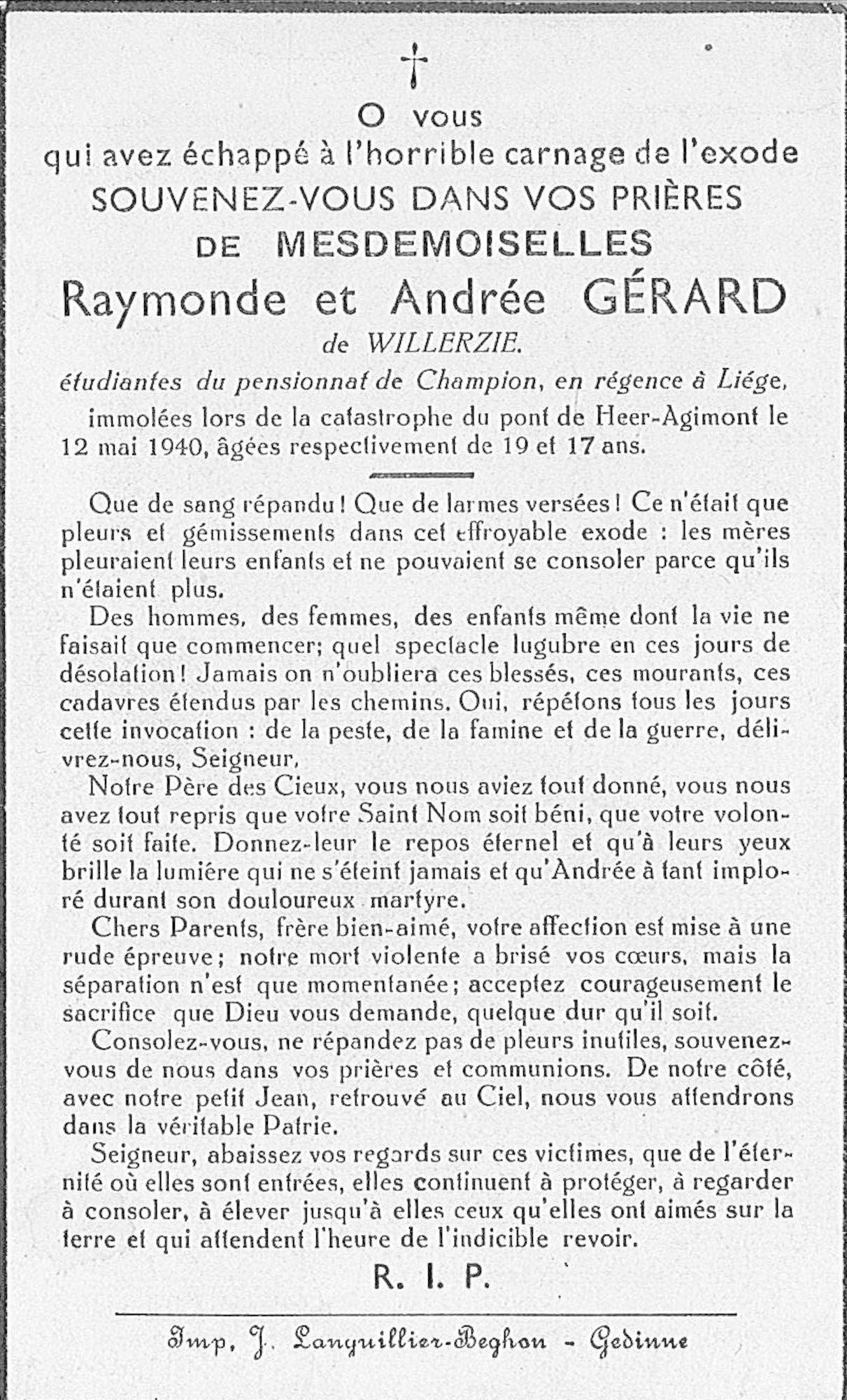 Raymonde Gérard de Willerzie