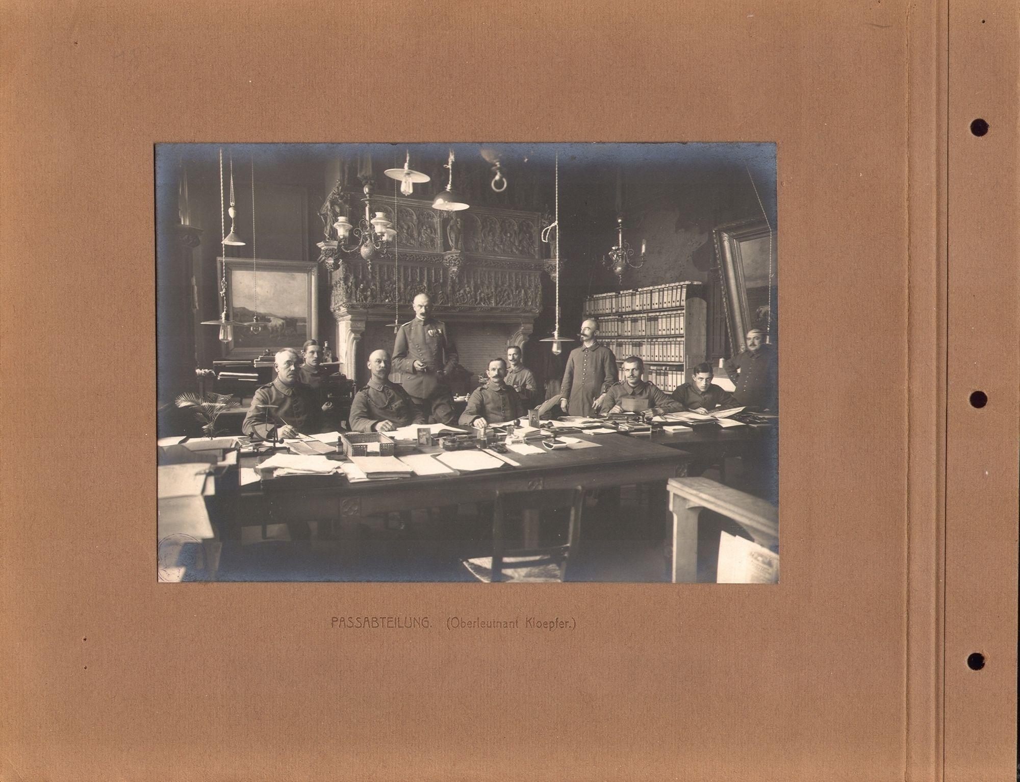 Reispasafdeling tijdens Wereldoorlog I