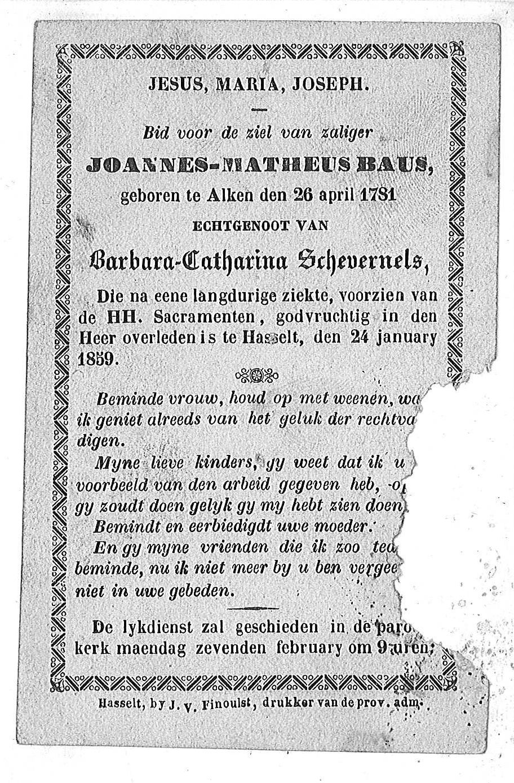 Joannes-Matheus Baus