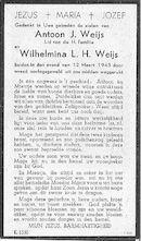Antoon J. Weijs en Wilhelmina L.H. Weijs