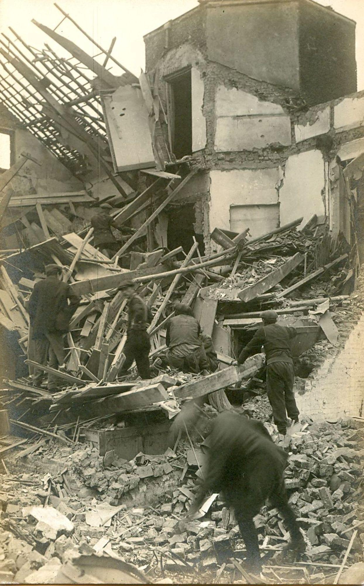 Aalbeeksesteenweg in 1918